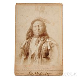 "Photograph of Hunkpapa Chief ""Rain in the Face"" by George W. Scott (American, 1854-1910)"