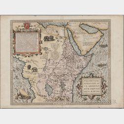 West Africa; Abyssinia: Sudan, Ethiopia, and Eritrea. Abraham Ortelius (1527-1598) Presbiteri Iohannis, Sive, Abissinorum Imperii Descr