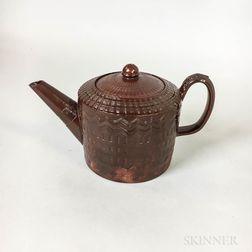 Glazed Redware Teapot