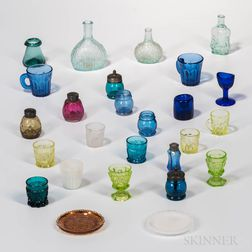 Twenty-six Blown, Molded, and Pressed Glass Items