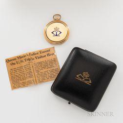 Rare 14kt Gold Hunter Case Presentation Watch