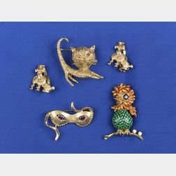 Group of Figural Jewelry
