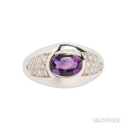 18kt Gold, Amethyst, and Diamond Ring, Mauboussin