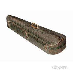 French Leather-bound Violin Case, Probably Gainier Debouche