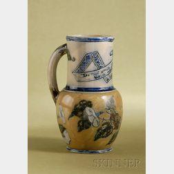 Martin Brothers Glazed Stoneware Milk Pitcher