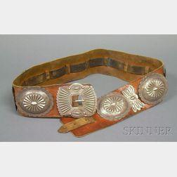 Southwest Silver Concha Belt