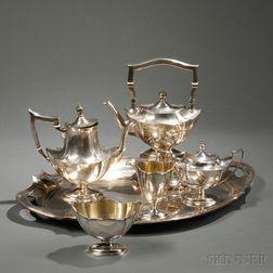 Five-piece Gorham Plymouth   Pattern Tea Service