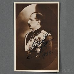 Boris III, Czar of Bulgaria (1894-1943) Signed Photograph, 1933.