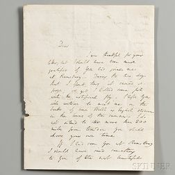 Davy, Sir Humphry (1778-1829) Autograph Letter Signed, [c. 1804].