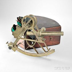 Spencer Browning & Rust 10-inch Brass Bridge Sextant