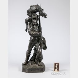 The Biter Bit   Bronze Sculpture by Karl Muller