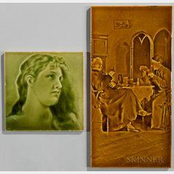 Two Art Pottery Tiles