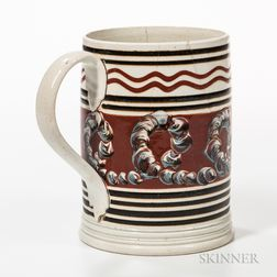 Pearlware Slip-decorated Quart Mug