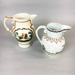 Two Commemorative Pratt-type Ceramic Jugs