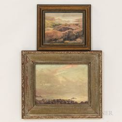 Two Framed Oil on Board Seacoast Scenes Attributed to Clarence Scott White (Massachusetts, 1872-1965)