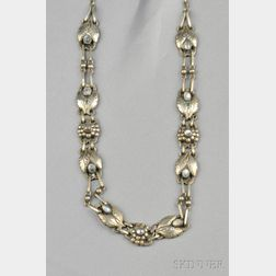 .830 Silver and Moonstone Necklace, Georg Jensen