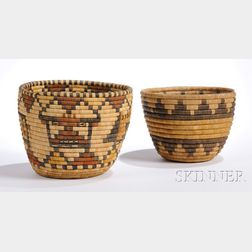 Two Hopi Coiled Baskets
