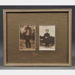 Two Period Photographic Postcards of Tsarevich Alexei Nikolaevich