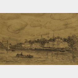 Reynolds Beal  (American, 1866-1951)      Harbor View.