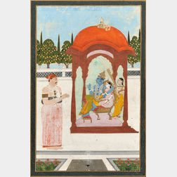 Folio of Miniature Painting and Calligraphy