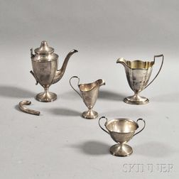 Four Sterling Silver Tableware Items