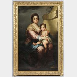 Continental School, 19th/20th Century      Madonna of the Olive Branch