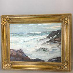 Roger William Curtis (American, 1910-2000)    Coastal Waters, Rockport, Massachusetts