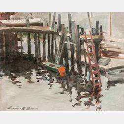 Samuel E. Brown (American, 1903-1983)      Rowayton Dock