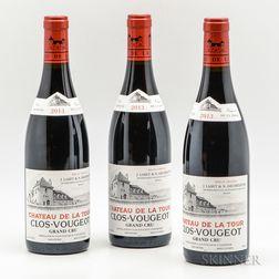 Chateau de la Tour Clos Vougeot 2013, 3 bottles