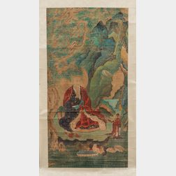 Hanging Scroll Depicting a Buddhist Monk