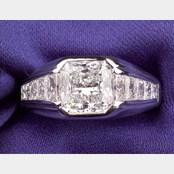 Platinum and Diamond Ring, Carvin French