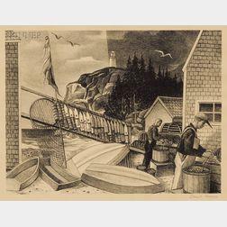Lot of Four Prints:      Alan Horton Crane (American, 1901-1969), Oaxaca Burritos