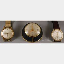 Two Gold Gentleman's Wristwatches