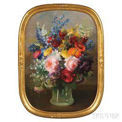 Frederick M. Fenetti (American, 1854-1915)      Floral Still Life