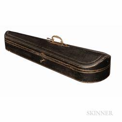 French Leather-bound Violin Case, Probably Gainier Debouche