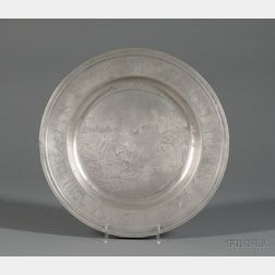 German Pewter Passover Seder Plate