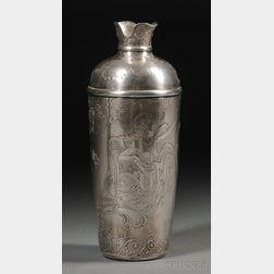 Whiting Art Nouveau Sterling Silver Presentation Martini Shaker