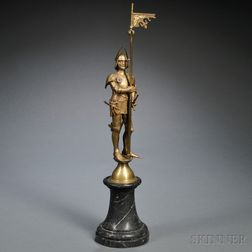 Continental School, Late 19th/Early 20th Century       Bronze Figure of a Knight