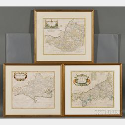 England. Robert Morden (d. 1703) Three County Maps: Somersetshire, Cornwall, and Dorsetshire.