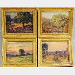 Frederick Mortimer Lamb  (American, 1861-1936)      Four Landscapes