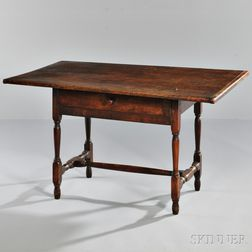 Turned Maple and Pine Tavern Table