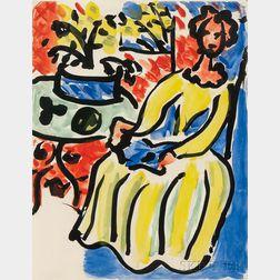 Henri Matisse (French, 1869-1954)      Marie-José en robe jaune