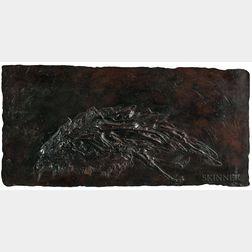 Leonard Baskin (American, 1922-2000)      Dead Crow (Horizontal Bird)