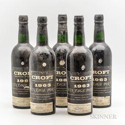 Croft Vintage Port 1963, 5 bottles