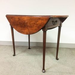 Queen Anne Cherry One-drawer Drop-leaf Table