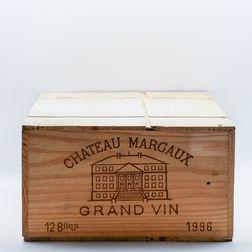 Chateau Margaux 1996, 12 bottles (owc)