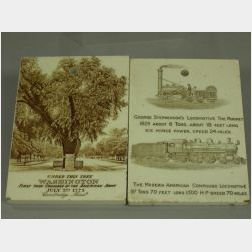 Two Transfer Decorated Ceramic Calendar Tiles