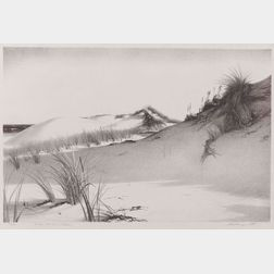 Stow Wengenroth (American, 1906-1976)  Windy Dunes