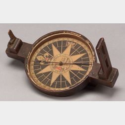 Rare Dated Colonial Surveyor's Compass by Thomas Greenough