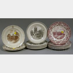 Three Sets of Wedgwood University and College Ceramic Plates